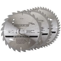 Silverline Circular Saw Blades TCT 210mm - 3 Pack