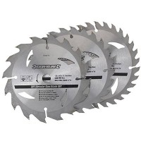 Silverline Circular Saw Blades TCT 135mm - 3 Pack