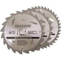 Silverline Circular Saw Blades TCT 185mm - 3 Pack