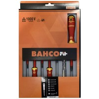 Bahco Electricians VDE Insulated Slotted and Phillips Screwdriver Set - 7 Piece