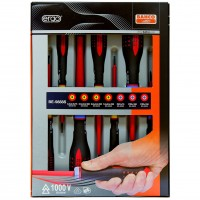 Bahco VDE Insulated Slotted and Pozi Screwdriver Set - 7 Piece