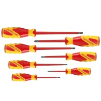 Gedore 1000V VDE Electricians Slotted & Phillips Screwdriver Set 7 Piece