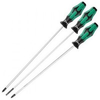 Wera Extra Long Screwdriver Set 390mm - 3 Piece Set
