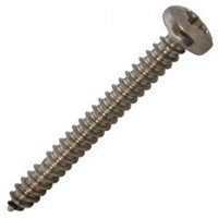 Stainless Self Tapping Pozi Pan Screws 8 x 1 - 100 Pack