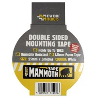 Everbuild Mammoth Double Sided Mirror Tape 24mm x 5 Metre