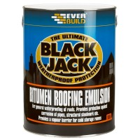 Everbuild 906 Bitumen Roofing Wall and Floor Emulsion - 5 Litre Available In Store Only