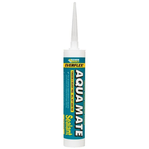 everbuild aqua mate fish tank silicone sealant clear 310ml
