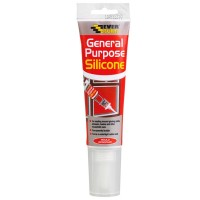 Everbuild General Purpose Silicone Sealant Clear Easi Squeeze - 80ml