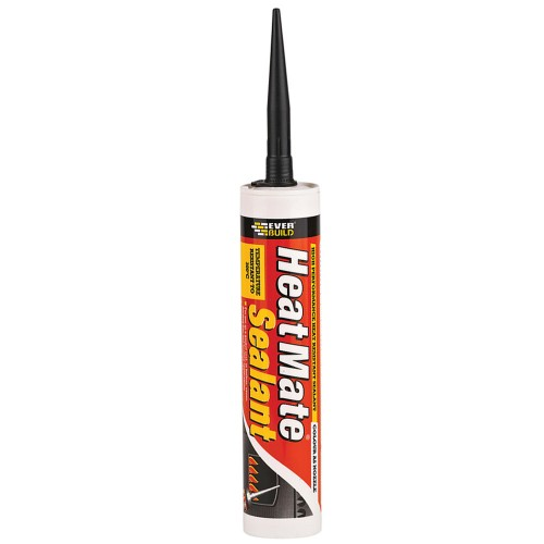 Fire Resistant Adhesive : Everbuild heat mate resistant silicone sealant black ml