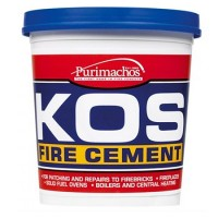 Everbuild KOS Brick Fire Furnace Stove Cement Buff - 500G
