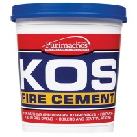 Everbuild KOS Brick Fire Furnace Stove Cement Buff - 1KG
