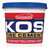 Everbuild KOS Brick Fire Furnace Stove Cement Buff - 25KG