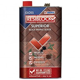 Resiblock Superior Block Paving Sealer Clear Gloss - 5 Litre