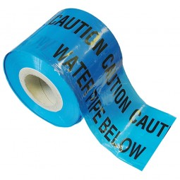 Faithfull Warning Tape Water 150mm x 365 Metres