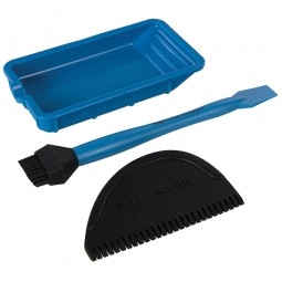 Rockler Silicone Glue Application Kit Brush Spreader and Tray 3 Piece