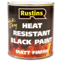 Rustins Heat Resistant Quick Drying Black Paint - 250ml