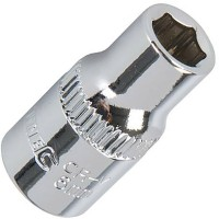 Silverline Metric Socket 1/4in Drive 6mm