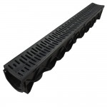 Drainage Channel and Grate Black  - 1 Metre