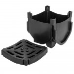 Drainage Channel Corner Block and Grate Black