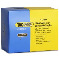 Tacwise CT-60 Cable Tacker Staples Black 14mm - 5000 Pack