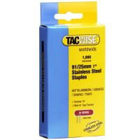 Tacwise Type 91 Series Staples 25mm Stainless Steel - 1000 Pack
