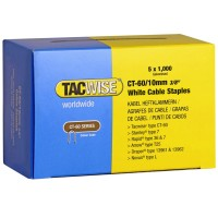 Tacwise CT-60 Cable Tacker Staples White 10mm - 5000 Pack