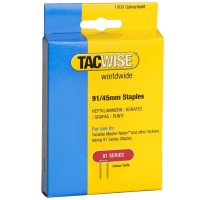 Tacwise Type 91 Series Staples 45mm - 1000 Pack