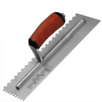Marshalltown M711SD Durasoft Handle Square Notched Trowel 16in x 4in