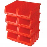 Silverline Stacking Storage Boxes 165mm x 105mm x 75mm - 8 Piece