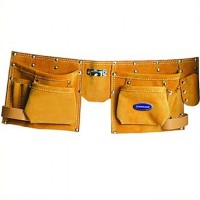 Silverline Leather Double Pocket Tool Pouch