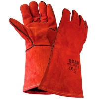 Scan Welding Gauntlets - Red