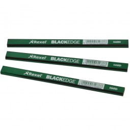 Rexel Blackedge Carpenters Pencils Hard Green - 12 Pack