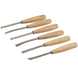 Silverline Wood Carving Chisel Set - 6 Piece