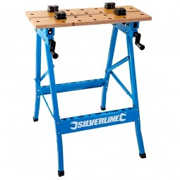 Silverline Professional Portable Flip Top Workbench 150kg