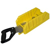 Stanley Mitre Box With Saw Storage and Saw